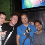 George, Matt Trainer, Amish Shah and I, San Diego, USA